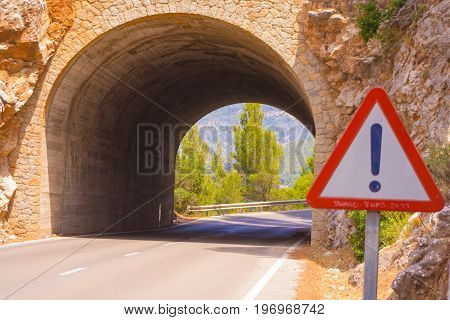 a dangerous underpass in spain on the island of mallorca
