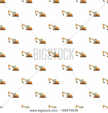Orange digger pattern seamless repeat in cartoon style vector illustration