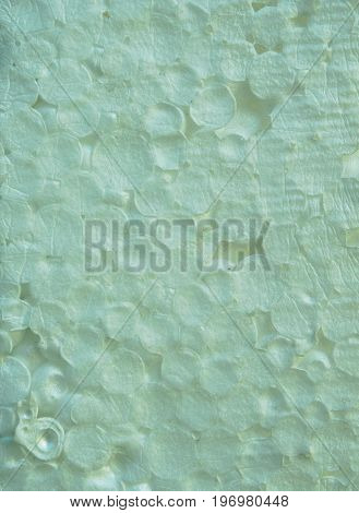 Texture of the foam. Construction foam, surface of polyurethane close-up. View of top, Macro photography texture of background