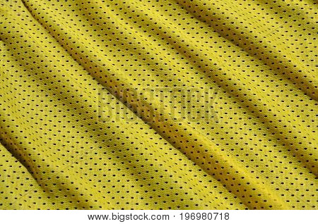 Texture Of Sportswear Made Of Polyester Fiber. Outerwear For Sports Training Has A Mesh Texture Of S
