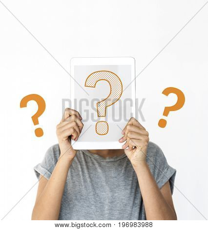 Question mark icon thinking of solution