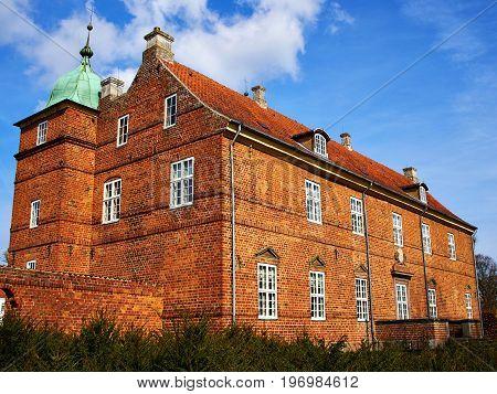 Historic typical classical built mansion manor house on Fyn Funen Island Denmark