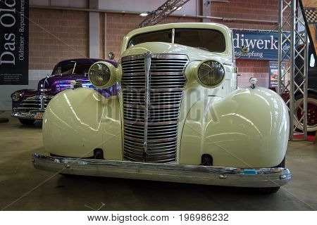 PAAREN IM GLIEN GERMANY - MAY 23 2015: Vintage car Chevrolet Master Serie GB Business Coupe. The oldtimer show in MAFZ.