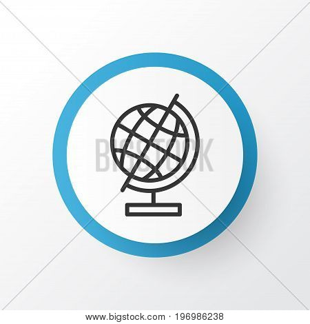 Premium Quality Isolated World Sphere Element In Trendy Style.  Education Globe Icon Symbol.