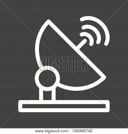 Satellite, dish, antenna icon vector image. Can also be used for news and media. Suitable for mobile apps, web apps and print media.