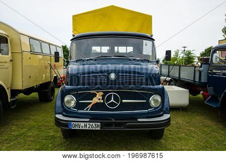 PAAREN IM GLIEN GERMANY - MAY 23 2015: Truck Daimler-Benz L323 1963. The oldtimer show in MAFZ.