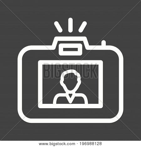 Camera, photography, person icon vector image. Can also be used for news and media. Suitable for mobile apps, web apps and print media.