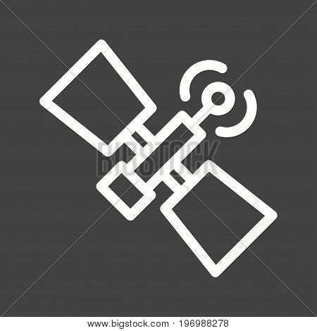 Satellite, antenna, signal icon vector image. Can also be used for news and media. Suitable for mobile apps, web apps and print media.
