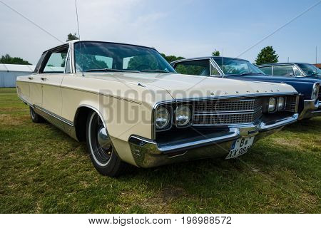 PAAREN IM GLIEN GERMANY - MAY 23 2015: Vintage car Chrysler New Yorker 1965. The oldtimer show in MAFZ.