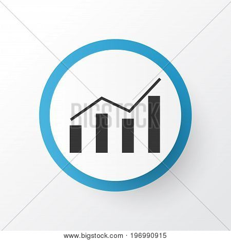 Premium Quality Isolated Data Information Element In Trendy Style.  Economics Profit Icon Symbol.