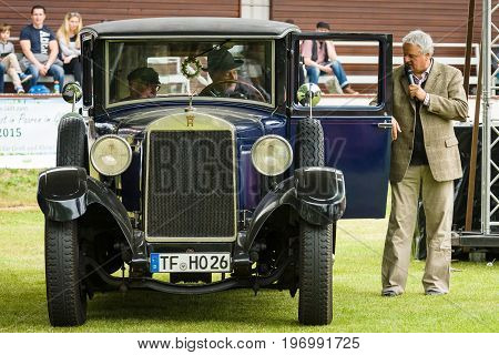 PAAREN IM GLIEN GERMANY - MAY 23 2015: Vintage car Horch 8 Typ 303. The oldtimer show in MAFZ.