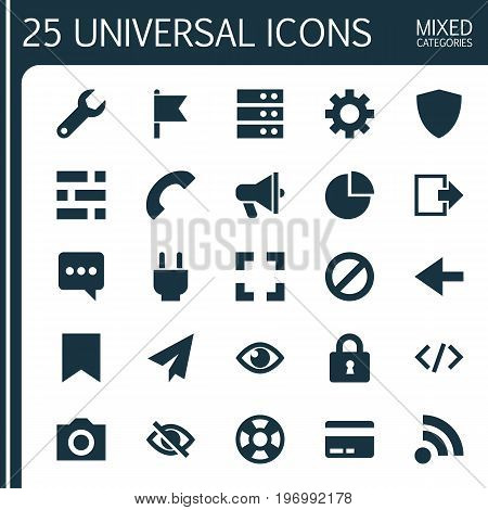 User Icons Set. Collection Of Socket, Card, Statistic And Other Elements