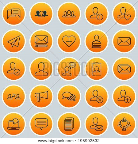 Network Icons Set. Collection Of Message, Chatting, Edit And Other Elements