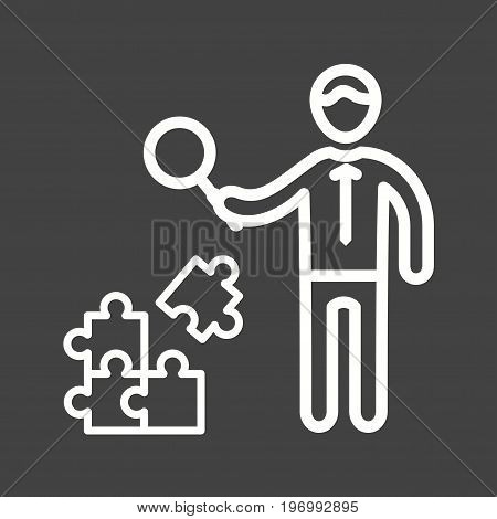Problem, online, search icon vector image. Can also be used for soft skills. Suitable for mobile apps, web apps and print media.