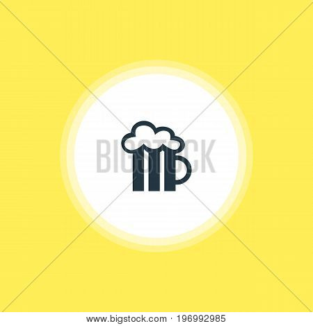Beautiful Location Element Also Can Be Used As Beer Mug Element.  Vector Illustration Of Pub Icon.