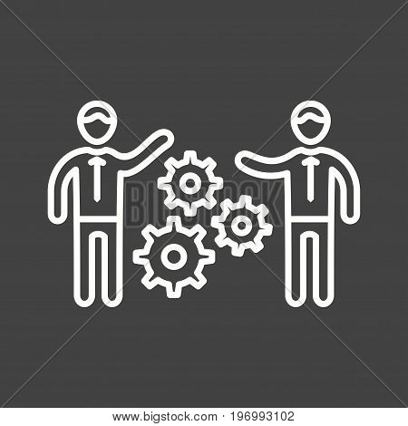 Team, training, skills icon vector image. Can also be used for soft skills. Suitable for mobile apps, web apps and print media.