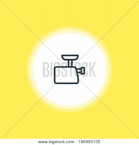 Beautiful Cooking Element Also Can Be Used As Mincer Element.  Vector Illustration Of Meat Grinder Icon.