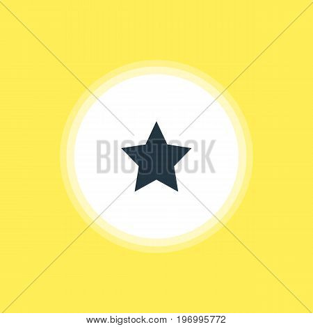 Beautiful Location Element Also Can Be Used As Bookmark Element.  Vector Illustration Of Star Icon.