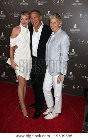LOS ANGELES - JUL 22:  Portia DeRossi, Neil Lane & Ellen DeGeneres arrives at the Neil Lane Bridal Collection Debut at Drai's at The W Hollywood Rooftop on July22, 2010 in Los Angeles, CA ....