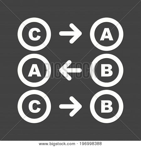 Logic, mathematics, education icon vector image. Can also be used for Math Symbols. Suitable for use on web apps, mobile apps and print media.