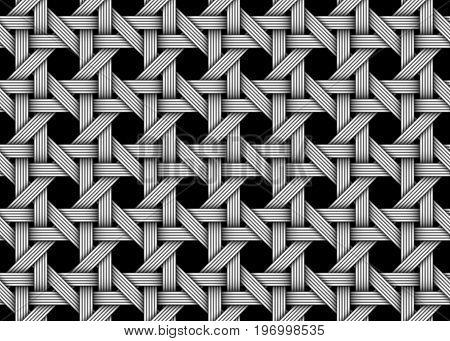Woven decorative seamless pattern. Vector decorative illustration.