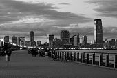 The Jersey City skyline from the Liberty State Park poster