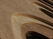 curve patterns in a church facade poster