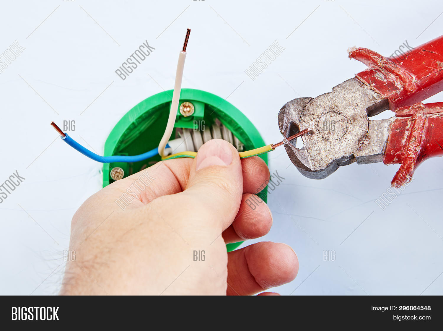 Electrician Installing Image Photo Free Trial Bigstock