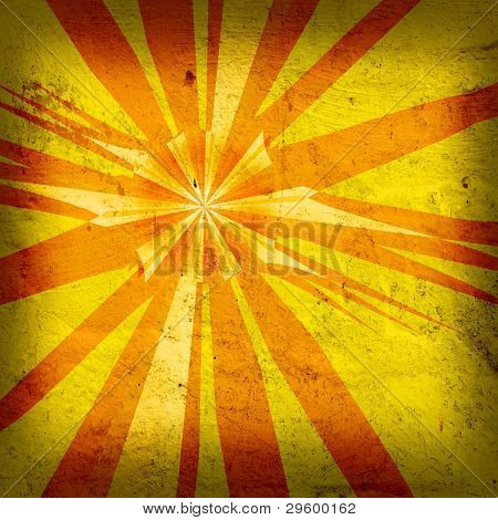 abstract background star of grange yellow sunlight