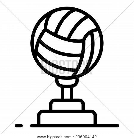 Volleyball Cup Icon. Outline Volleyball Cup Vector Icon For Web Design Isolated On White Background