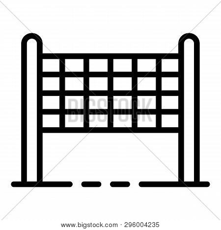 Volleyball Net Icon. Outline Volleyball Net Vector Icon For Web Design Isolated On White Background
