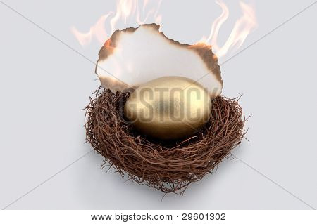 Golden Egg On Fire