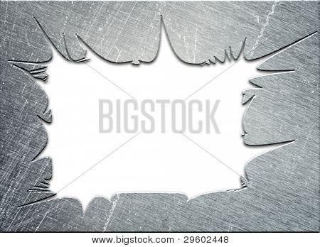 abstract metal frame,on white background