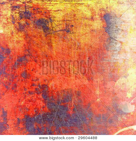 abstract grunge background with hearts and stars