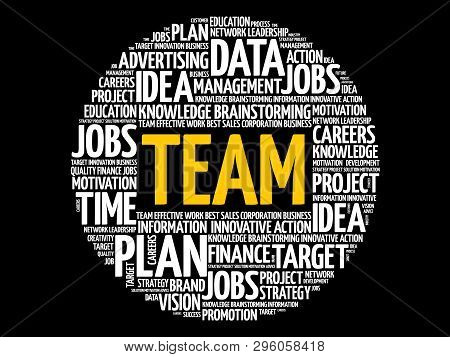 Team Word Cloud Collage, Business Concept Background