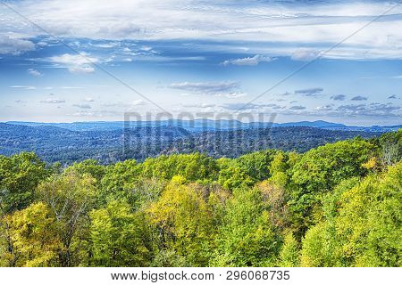A Landscape Picture Overlooking Western Connecticut From The Summit Of Mohawk Mountain In Cornwall C