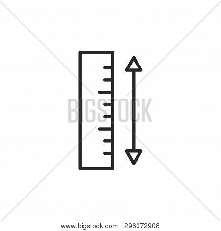 Ruler Icon Isolated On White Background. Ruler Icon In Trendy Design Style. Ruler Vector Icon Modern