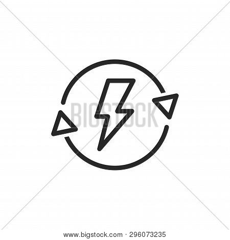 Energy Saving Icon Isolated On White Background. Energy Saving Icon In Trendy Design Style. Energy S