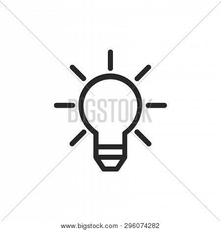 Light Bulb Icon Isolated On White Background. Light Bulb Icon In Trendy Design Style. Light Bulb Vec
