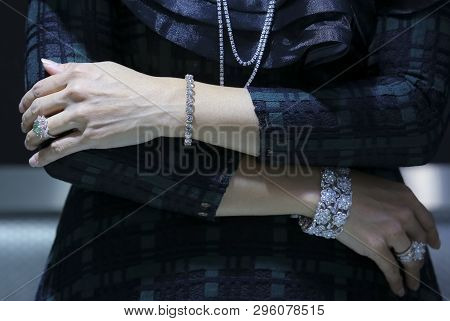Close Up Of Woman Hand With Jewelry