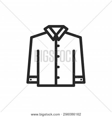 Shirt With Long Sleeves Icon Isolated On White Background. Shirt With Long Sleeves Icon In Trendy De