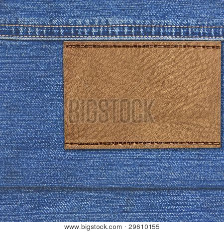 Jeans blue background fabric with a seam