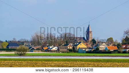 Rucphen A Small And Rustic Village In North Brabant, The Netherlands, Skyline Of A Popular Village