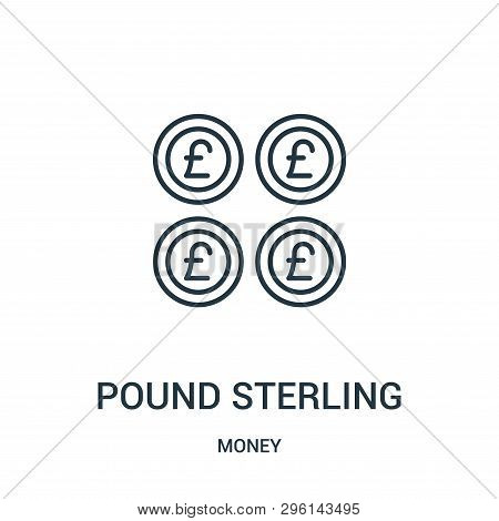 Pound Sterling Icon Isolated On White Background From Money Collection. Pound Sterling Icon Trendy A