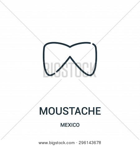 Moustache Icon Isolated On White Background From Mexico Collection. Moustache Icon Trendy And Modern