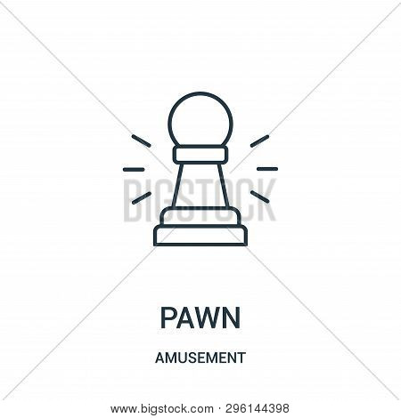 Pawn Icon Isolated On White Background From Amusement Collection. Pawn Icon Trendy And Modern Pawn S