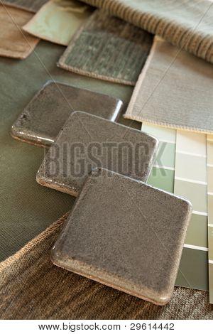 Green & Brown Interior Design Plan