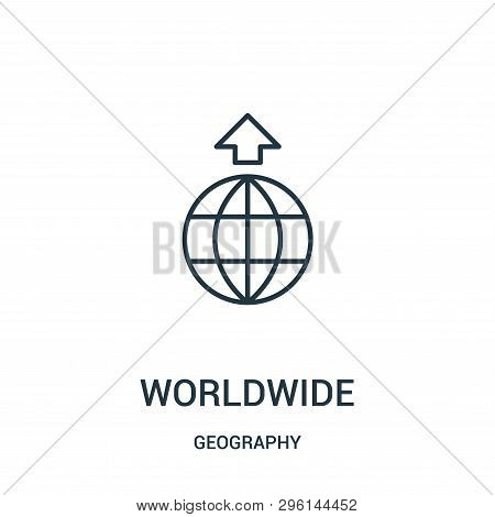 Worldwide Icon Isolated On White Background From Geography Collection. Worldwide Icon Trendy And Mod