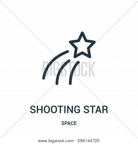 Shooting Star Icon Isolated On White Background From Space Collection. Shooting Star Icon Trendy And