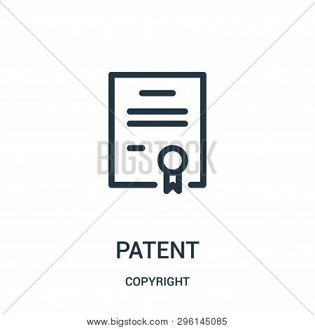Patent Icon Isolated On White Background From Copyright Collection. Patent Icon Trendy And Modern Pa